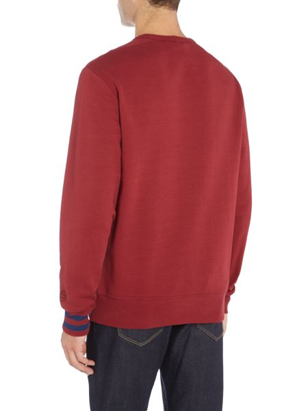 Perry Ellis America Signature 80`s Logo Crew-Neck Sweatshirt