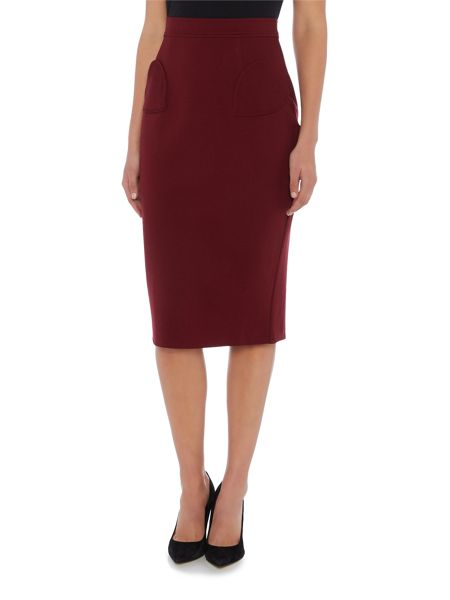 Lost Ink Heart Pocket Pencil Skirt