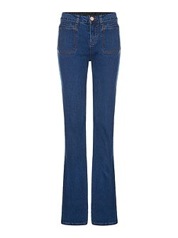 Flared Jean Trousers
