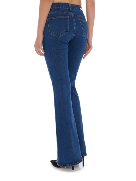Lost Ink Flared Jean Trousers