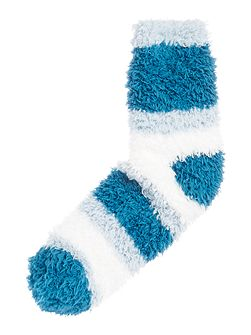 Supersoft stripe cosy socks