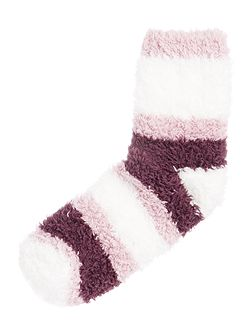 Supersoft cosy socks with stripe
