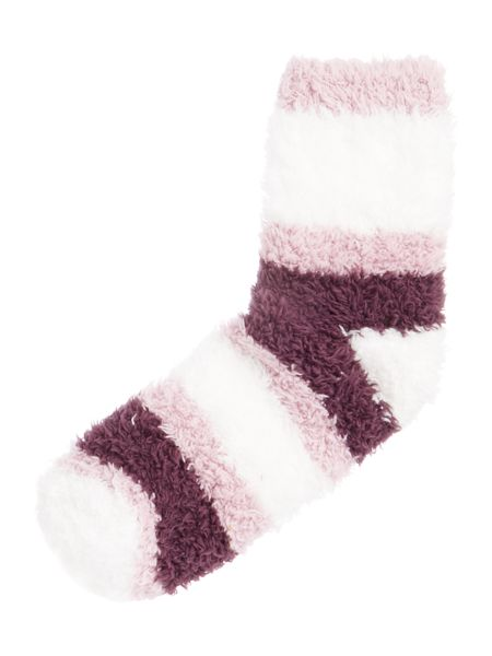 Elle Supersoft cosy socks with stripe