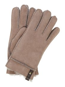 UGG Tenney gloves with leather trim