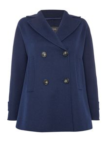 Max Mara SASSARI double faced shawl collar peacoat