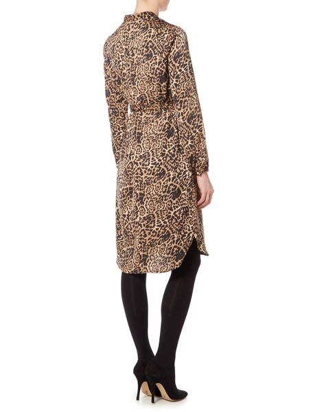 InWear Long sleeve leopard print dress