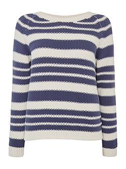 SONNI longsleeve striped texture jumper