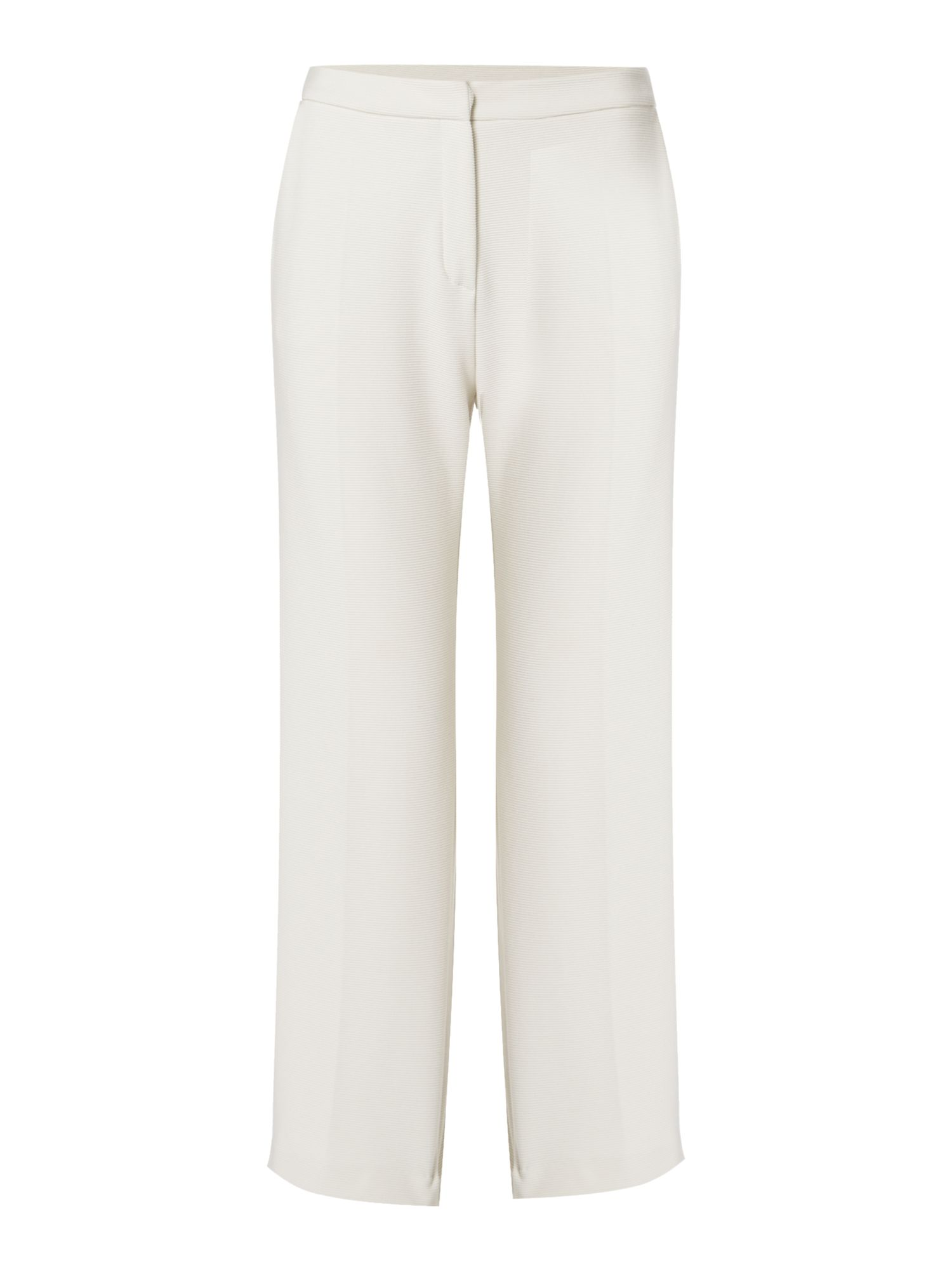 Max Mara Weekend Uruguay cropped jersey trouser in stripe, White