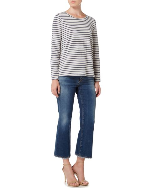 Max Mara OCCHIO Longsleeve jersey striped top