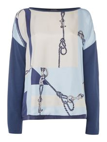 Max Mara Dleslie printed silk top
