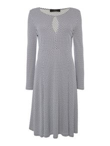 Max Mara Urbano printed fit and flare dress