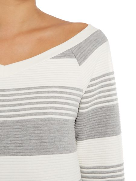 Lost Ink Long Sleeved Striped Sweater Top