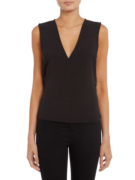 Lost Ink Sleeveless Open Back Top