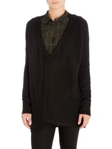 Label Lab Abott black lattice stitch cardigan