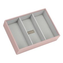 London Clock Pink classic deep 3 Stacker jewellery box