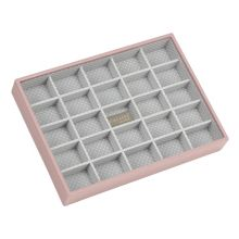 London Clock Pink classic 25 section stacker jewellery box