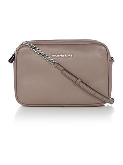Bedford taupe fold over cross body bag