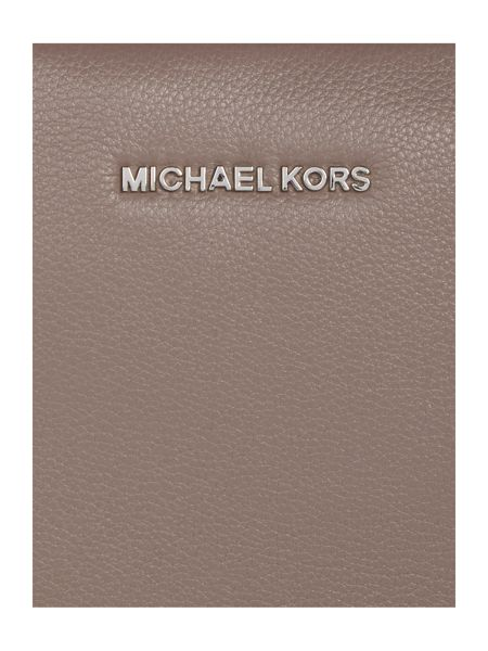 Michael Kors Bedford taupe fold over cross body bag