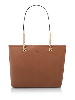 Jetset travel chain tan top zip tote
