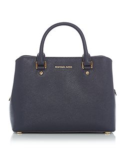 Savannah navy medium tote bag
