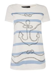 Max Mara EUFRATE short sleeve anchor print t-shirt