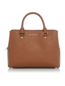 Michael Kors Savannah tan medium tote bag