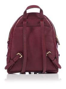 Michael Kors Rhea zip purple medium backpack