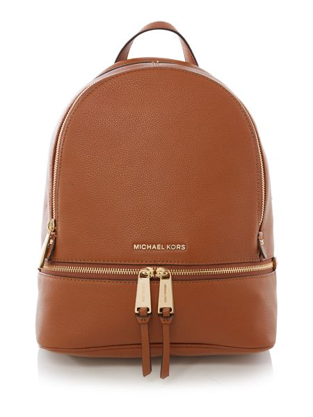 Michael Kors Rhea tan medium backpack