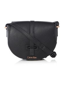 Calvin Klein Poppy black saddle bag