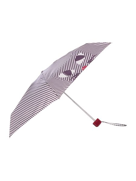 Lulu Guinness Kooky cat striped tiny umbrella