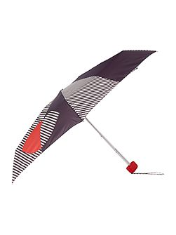 Striped contrast lip tiny umbrella
