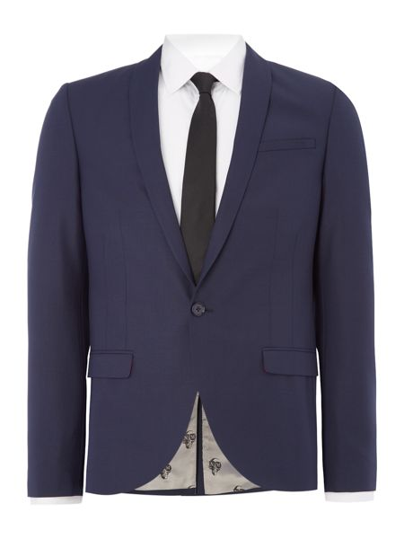 Noose and Monkey Skinny Fit Shawl Collar Jacket