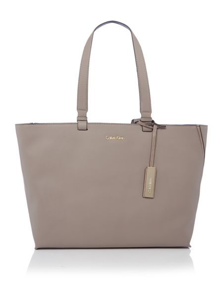 Calvin Klein Julia neutral large tote bag