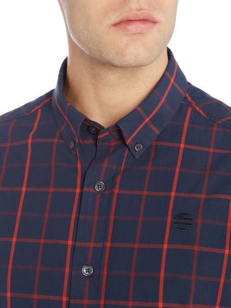 Perry Ellis America Grid Long Sleeve Shirt