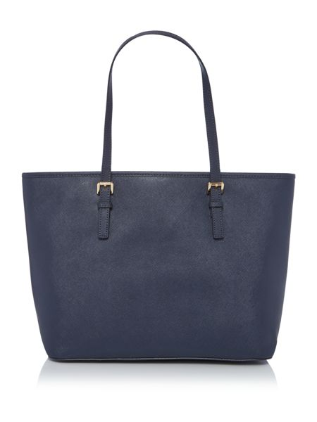 Michael Kors Jetset travel navy top zip tote bag