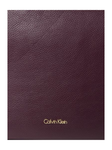 Calvin Klein Keyla burgundy clutch bag