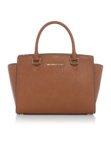 Michael Kors Selma tan medium tote bag