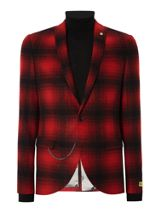 Noose and Monkey Skinny Fit Check Suit Jacket