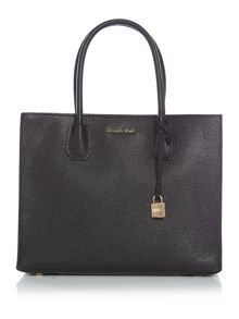 Michael Kors Mercer black large tote bag