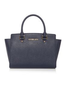 Michael Kors Selma navy medium tote bag