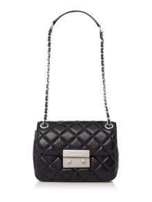 Michael Kors Sloan black small fold over bag