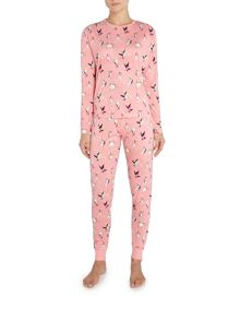 Chelsea Peers Skiing penguin long sleeve pyjama set
