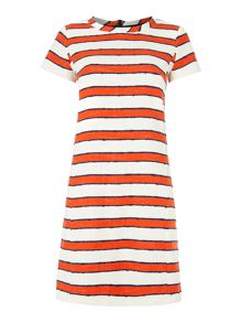 Max Mara CROTONE shortsleeve textured cotton shift dress