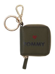 Tommy Hilfiger Honey green coin purse keyfob