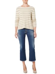 Max Mara ANTIOPE metalic striped longsleeve jumper