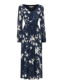 Little White Lies Long Sleeve Star Print Maxi Dress