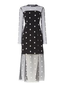 Little White Lies Sheer Star Maxi Dress