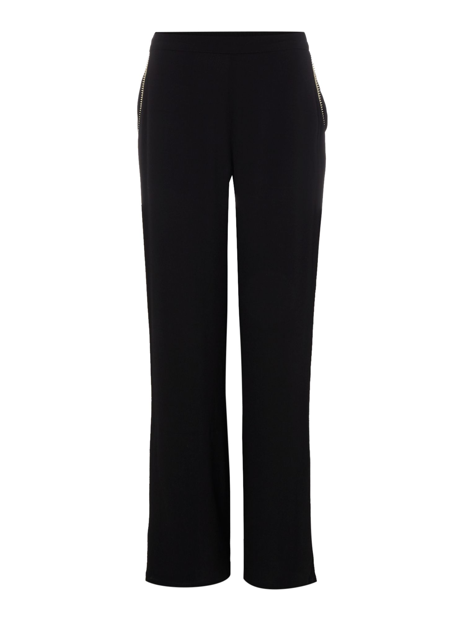 Little White Lies Little White Lies Wide Leg Zip Pocket Trousers, Black