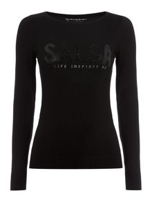 Salsa Long Sleeve knitted sweater