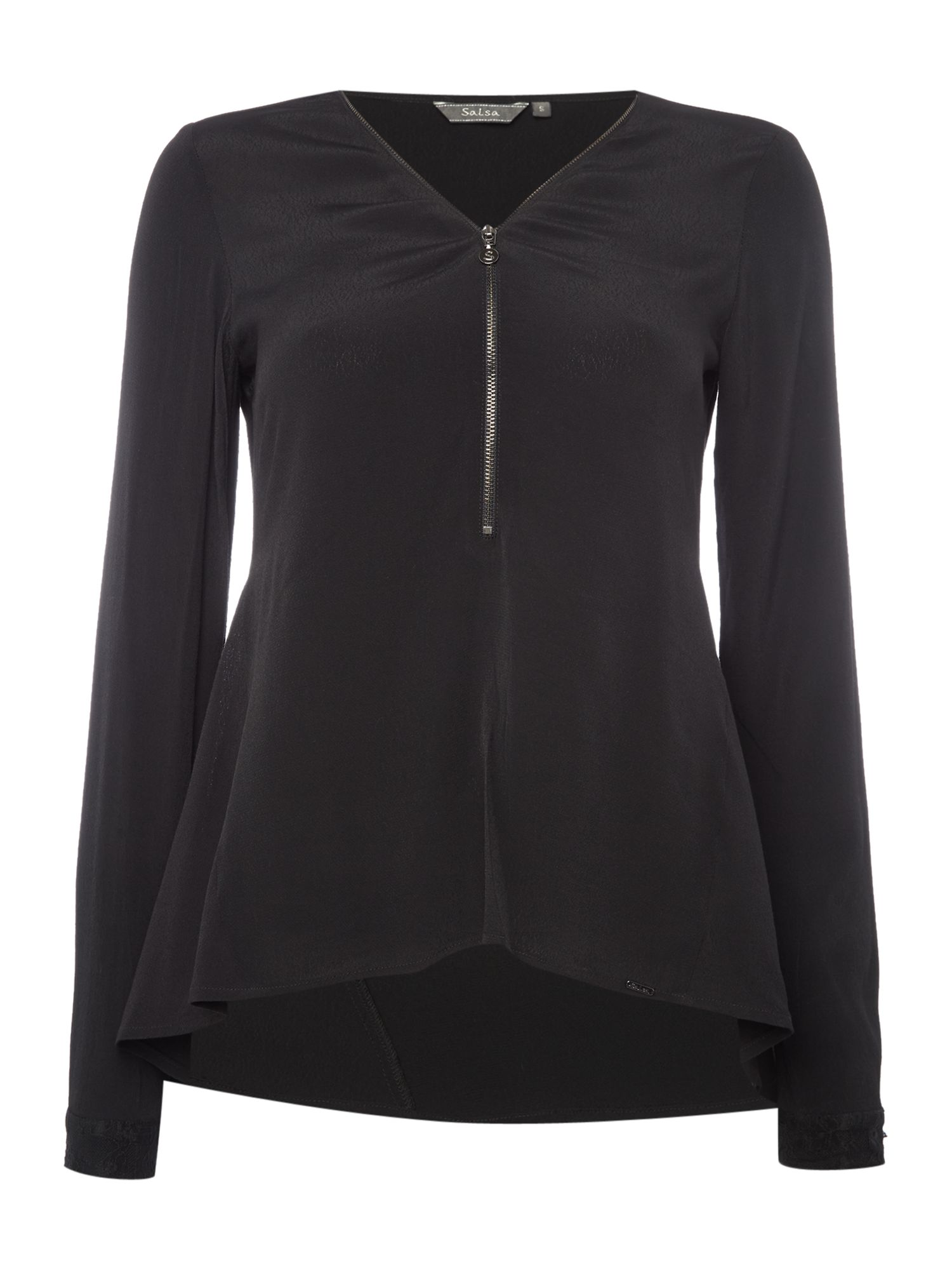 Salsa Greece Zip Up Shirt, Black